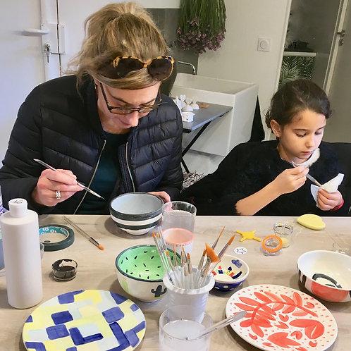 duo peinture sur céramique