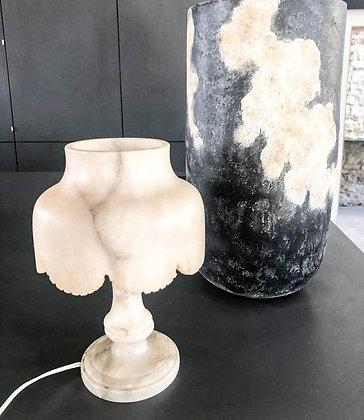 Etonnante lampe de table en Albâtre