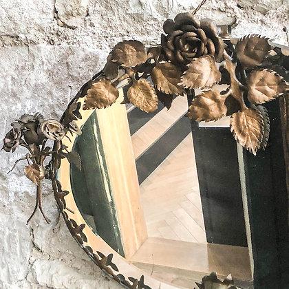 miroir-ancien-motif-floral-fer-forge