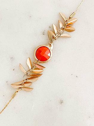 Bracelet breloques feuilles