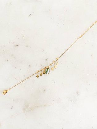 Bracelet agathe pierre foncée