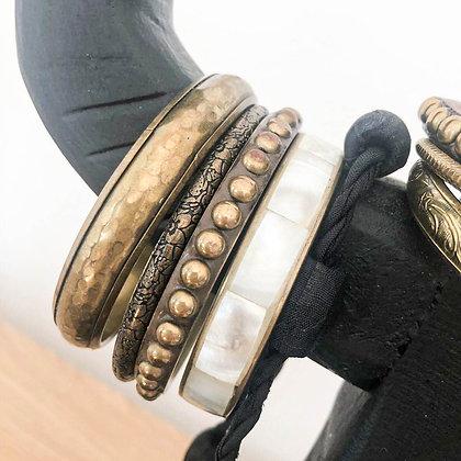4 bracelets anciens esprit ethnique - Bijoux chinés