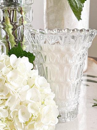 Bougie dans un vase évasé effet diamant !