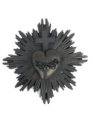 EX-VOTO et joli coeur noir - NEUF