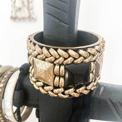 manchette-vintage-noir-or