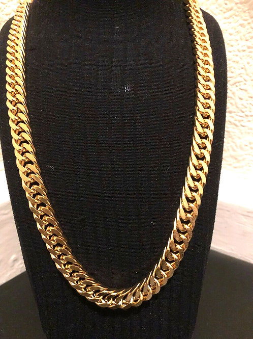 Artist Stainless steel Gold plated chain necklace Link 34cm Long