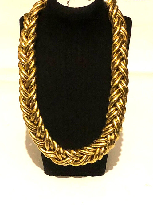 Colour Gold Chain Necklace Fancy Dress Ladies Artist Jewellery
