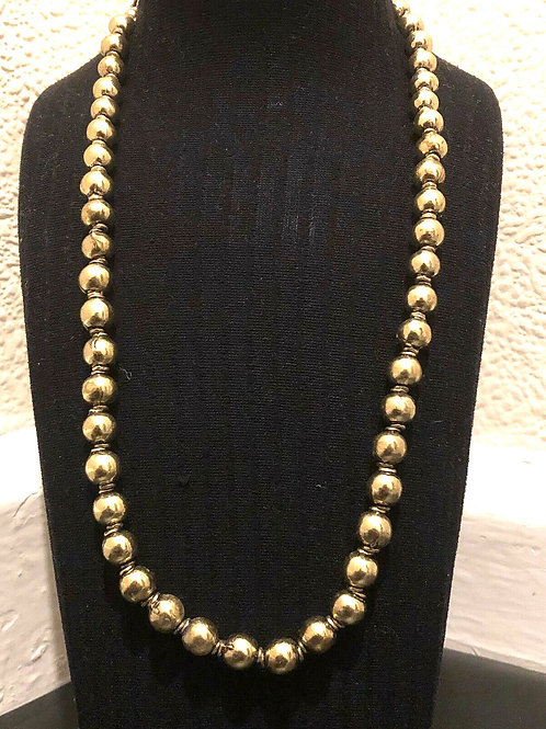 Artist Brass gold colour ball Necklace jewellery collection
