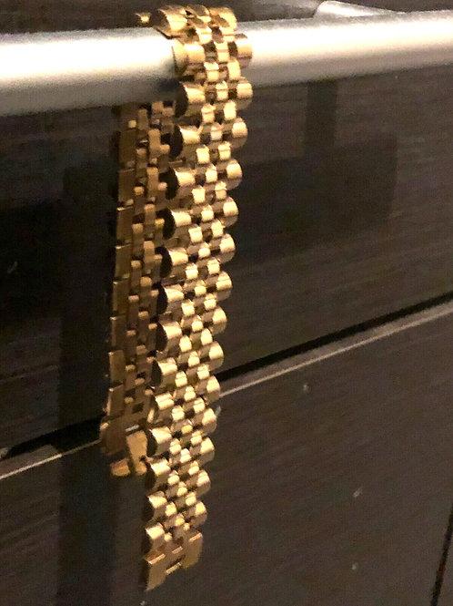 Artist stainless steel gold plated bracelet