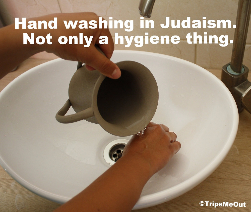 Hand washing in Judaism. Not only a hygiene thing.
