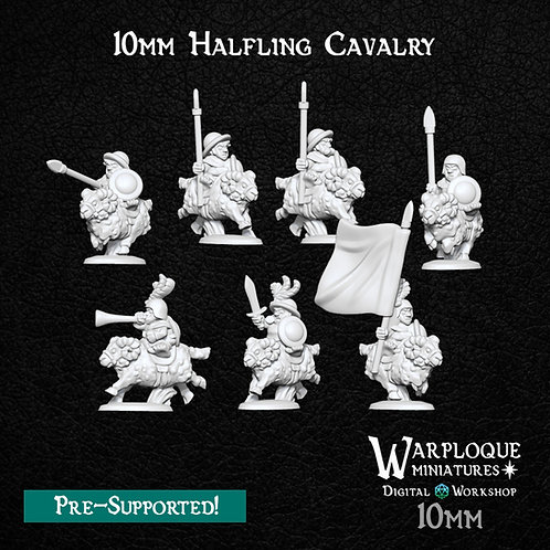 10mm Halfling Cavalry