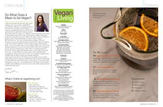 Vegan Living Editors Note & Contents
