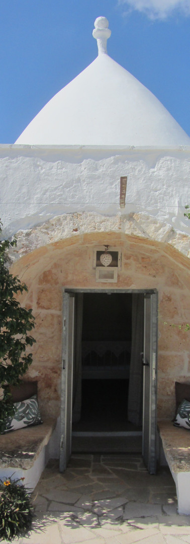 Old entrance to the trullo master bedroom