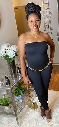Solid Tube Jumpsuit