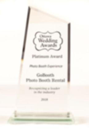 Ottawa Wedding Award Best Photo booth experience Gobooth 2018