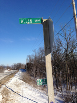 Allen Drive Sign