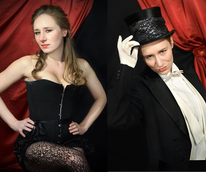 The two faces of Lottie L'Amour (Christian Grant), from 'The Molly Room'