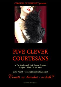 Brighton Festival poster for 'Five Clever Courtesans'