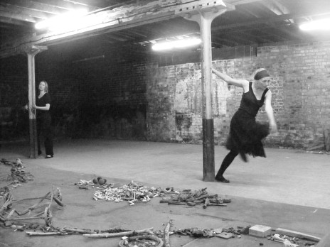 Minna Pang (The Dagger) and Aneta Piotrowska (The Bellarmine) in 'Found' at Trinity Buoy Wharf in London