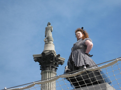 Clarissa (Sarah Blake) relates The Fairy Tale Of The Fourth Plinth (in Trafalgar Square), in 'Do Not Feed The Ladies'