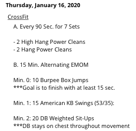 GO HARD ON TODAY'S WOD
