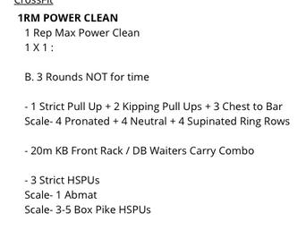 1RM POWER CLEAN