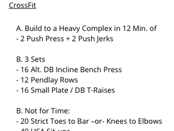 HEAVY COMPLEX AND STRENGTH WORK