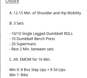 LAST MOVEMENT PREP THURSDAY FOR THE CROSSFIT OPEN 2019