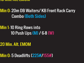 LAST DAY TO WOD PREP FOR 18.3