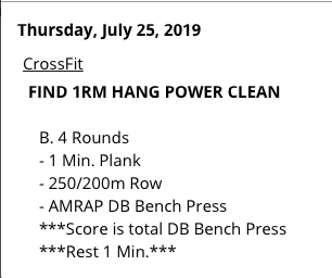FILMING TODAY!!! 1RM HANG POWER CLEAN