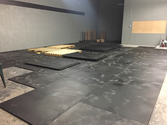 RUBBER FLOORING INSTALLATION HAS BEGUN