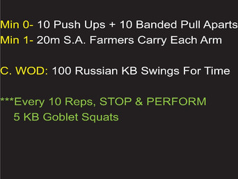 WOD IS FOR TIME WITH A TWIST