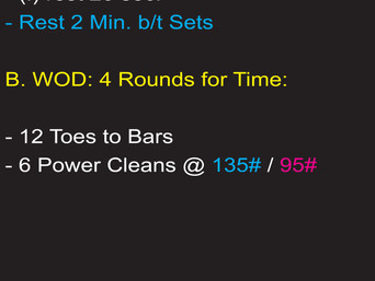 THE POWER CLEAN WILL BE TESTED SOON