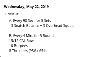 TRANSITIONAL WEEKS FOR THE SNATCH