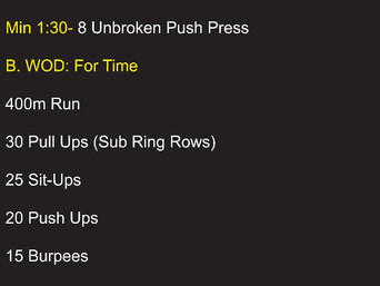 LAST WOD OF APRIL