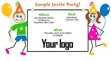 Party Place Invites design