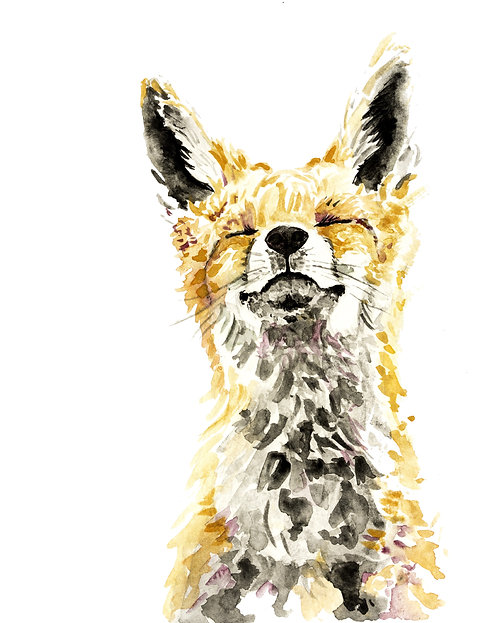 Happy Fox Print