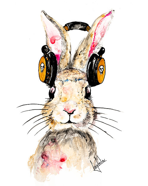 Bunny Beats Print