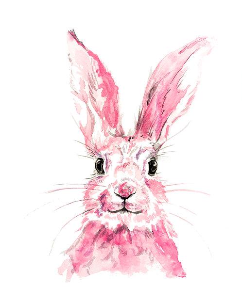 Pink bunny 1 Print