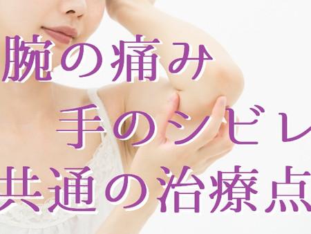 腕の痛み、手のシビレに共通する治療ポイント(五反田 鍼灸院)