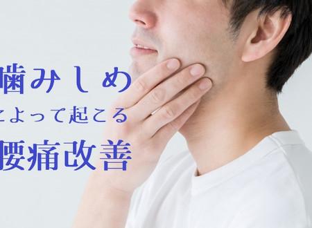 噛み締めの治し方。噛みしめが原因の腰痛を約2ヶ月で改善(噛みしめ改善事例2)60代男性 (五反田 鍼灸院)