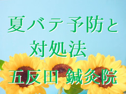 夏バテ予防と対処法(五反田 鍼灸院)