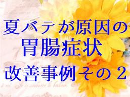 夏バテが原因の胃腸症状改善事例その2(五反田 鍼灸院)