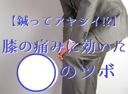 【鍼ってアヤシイ!?】膝の痛みに効いた○のツボ(五反田 鍼灸院)