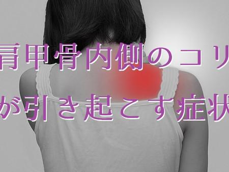 肩甲骨内側のコリが引き起こす症状(五反田 鍼灸院)