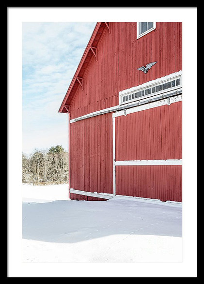 New England Red Barn in Winter