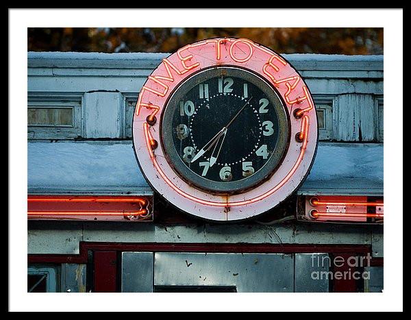 Diner Neon Clock