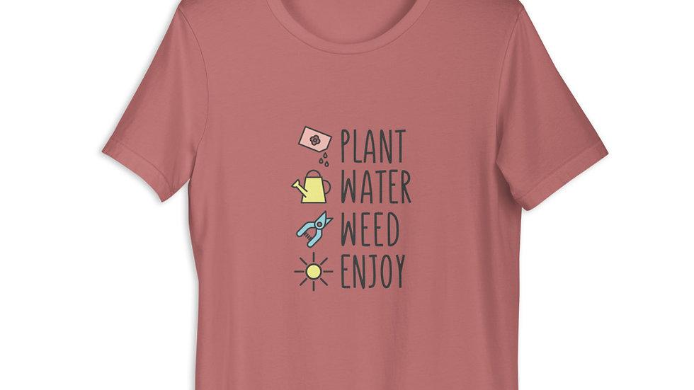 Enjoy Gardening| Short-Sleeve Unisex T-Shirt