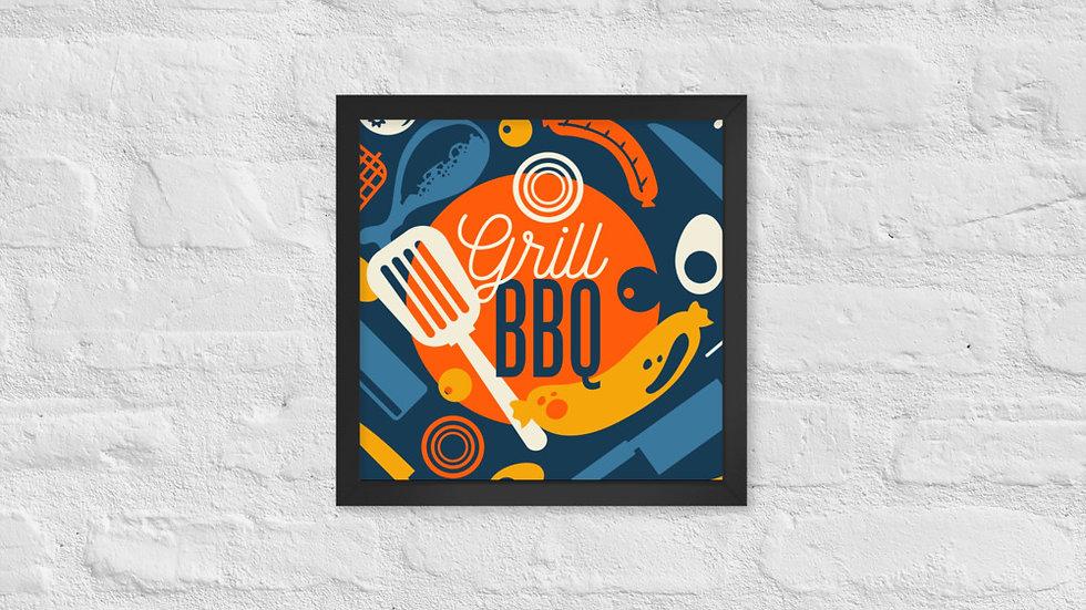 Framed poster   Barbecue