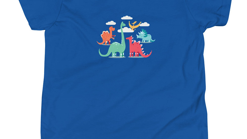 Cartoon Dinosaurs | Youth Short Sleeve T-Shirt